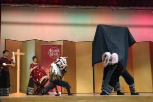 東京讃岐獅子舞の演舞