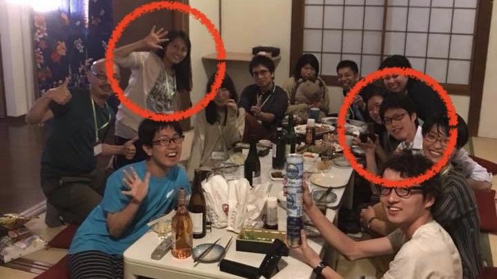 共通の友人の食事会で偶然出会ったてらと代表