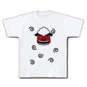 獅子の顔と渦巻のゆるいイラストTシャツ
