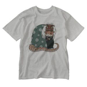 獅子と蛇のイラストTシャツ