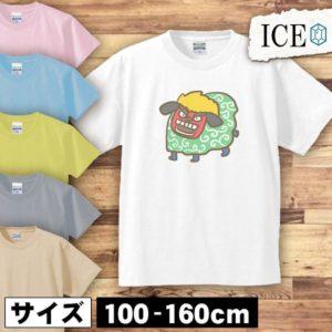 キッズ用ゆるい獅子舞イラストTシャツ